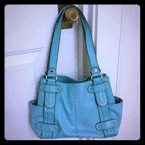 Blue Leather Tignanello Bag